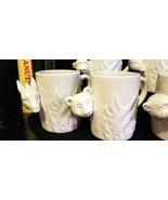Seven Vintage 1974 FITZ & FLOYD Coffee Cups Mugs Figural Animal Heads JU... - $75.00