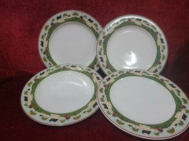 "Sakura Debbie Mum Snowman Set of 4 Dinner Plates 10 3/4"" - $21.78"