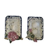 VTG Light Switch Plate Plug Plate Ceramic Hand Painted Blue Pink Floral ... - $15.53