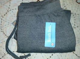 Beverly Rock Woman Drawstring Pocket Sweatpants, CHARCOAL GREY , 1X NEW W/TAGS image 5