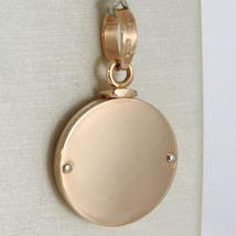 Anhänger Medaille Gold Pink Weiß 750 18K, Rund, Engel Schutzengel in Gebet image 2