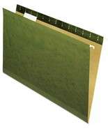 UNIVERSAL 24215 Reinforced Hanging Folder 1/5 Cut Legal Standard Green 2... - $15.86