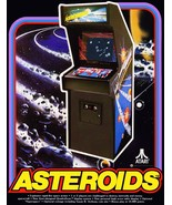Video Arcade Game Stand-Up Display ASTEROIDS - Missle Command Pacman Gaming - $15.99