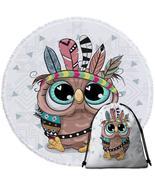 Sweet Native American Baby Owl Beach Towel - $12.32+