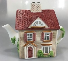 Johnson Bros Friendly Village Street House Teapot 4 Cup Series 1 Handpai... - $37.73