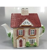 Johnson Bros Friendly Village Street House Teapot 4 Cup Series 1 Handpai... - $37.73