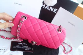 AUTHENTIC CHANEL PINK QUILTED LAMBSKIN LARGE RECTANGULAR MINI CLASSIC FLAP BAG  image 4