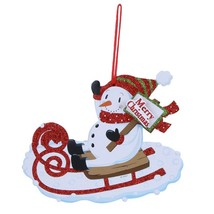 (06)Merry Christmas Shaped Hanging Letters Snowman Santa Claus Pendant C... - $14.00