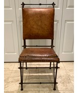 Ilana Goor Design Mid-Century Modern Leather and Iron Arm Chair - $494.01