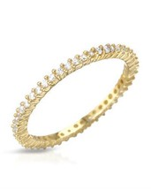 Gold plated Silver Ring With Cubic zirconia. - $37.99