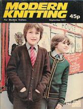 Modern Knitting for Machine Knitters Sept 1977 Magazine UK School Cardig... - $7.12