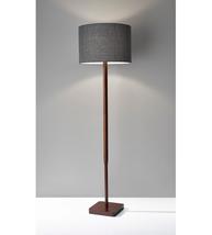 Adesso 4093-15 Ellis Floor Lamps 16in Walnut Wood Grain 1-light - $170.00