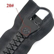 60-200CM Extra Large Resin Zipper White&black Open-end For Down Jacket Coat - $15.52+