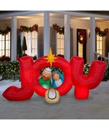 8 Foot Airblown Inflatable Nativity Joy Sign Outdoor Christmas Decor Yard  - $136.12