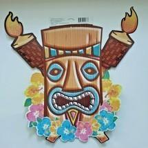 Vitnage Hallmark Tiki Glitter Luau Tropical Summer Party Decoration Wall... - £9.52 GBP