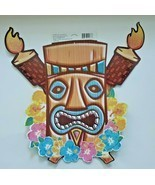Vitnage Hallmark Tiki Glitter Luau Tropical Summer Party Decoration Wall... - £9.32 GBP