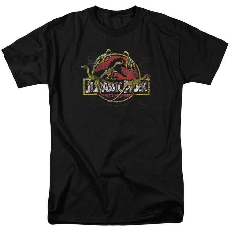Jurassic Park t-shirt Sci-Fi Retro 90s Dr Alan Grant graphic cotton tee UNI337