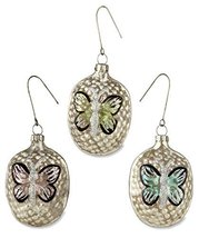 Butterfly Mercury Glass Ornaments Set of 3