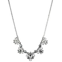 GIVENCHY CRYSTAL SILVERTONE FRONTAL NECKLACE NWT$98 - $56.09