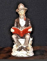 Man Figurine Reading a Book AA18 – 1158 Vintage image 1