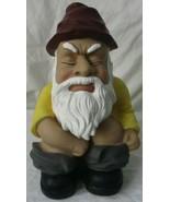 Mr. Gotta-Go-Now Garden Squatting Gnome Lawn Statue Decor Yard Outdoor P... - $19.79