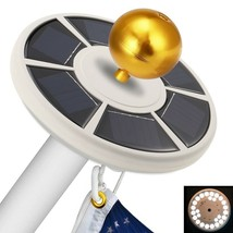 ANLEY Upgraded Version 26 Led Solar Powered Flag Pole Light for 15 to 25... - $25.69