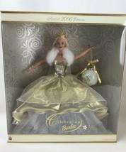Celebration Barbie Doll 2000 NIB Holiday Edition With Ornament Mattel Christmas - $29.66