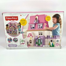NIB Fisher Price Loving Family Dollhouse 2 ft.+ w/ Mom Dad Baby Pink Doo... - $395.99
