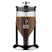 Gorgeous [8 Cup] French Press Coffee Maker & Tea Maker (34 Oz) – (Chrome) - $31.78