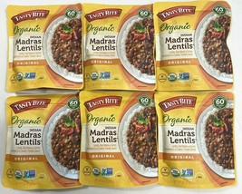 6 Sealed Packages Of Tasty Bite Organic Indian Madras Lentils 10 Oz Each