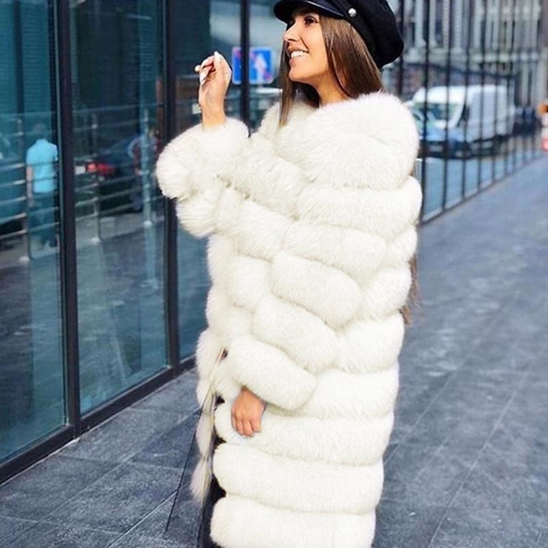 Elegant faux fur coat women fur jacket new fox fur coat leather imitation fur coat new