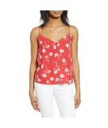 NWT Womens Size XL Nordstrom All in Favor Red White Floral Print Camisole - $19.59