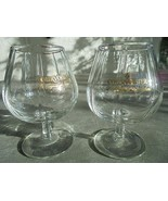 "Set of 2 Small Courvoisier Cognac Brandy Glasses 4 1/2"" Tall - $13.86"
