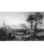 ITALY Certaldo - 1864 Fine Quality Print Engraving - $39.60