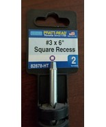 Pratt-Read #3x6 Square Recess Screwdriver,No 82878-HT - $7.92