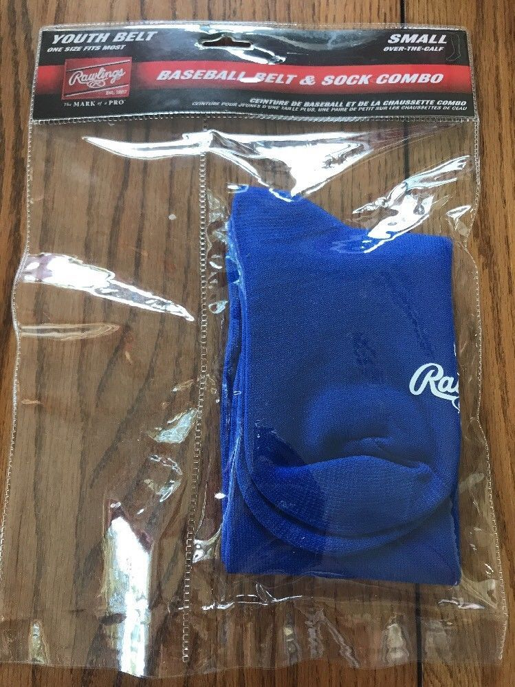 Primary image for New Rawlings Youth Blue Baseball Sock Only Size Small Ships N 24h