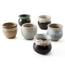 6 in Set 2.5 Inch Ceramic pot Flowing Glaze mini planters. Ships fast to... - $317,85 MXN