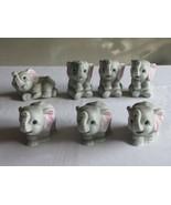 Homco Home Interiors Porcelain Baby Gray Elephant Figurines #1400 Set of... - $29.99
