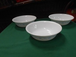 """Beautiful Collectible CORELLE """"Morning Blue"""" Dinnerware-  Set of 3 BOWLS - $9.41"""