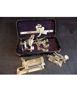 Vintage 13 Pieces Greist Rotary Sewing Machine Attachments in Original Tin Box - $9.89