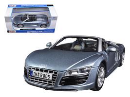 Audi R8 Spyder Blue 1/24 Diecast Car Model by Maisto - $50.99