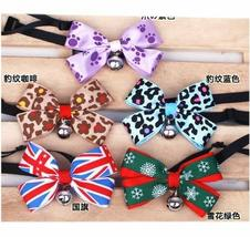 PANDA SUPERSTORE [Leopard] Bowknot Collar/Bow-Tie with Bell for Cat & Dog(Random
