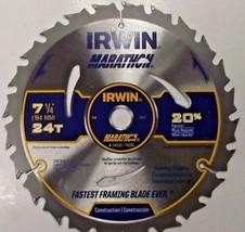 "Irwin 24030 Marathon 7-1/4"" 24 Tooth Framing Ripping Carbide Circular Sa... - $4.46"