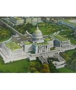 Vintage U S Capitol Postcard Washington DC White House 35080 - $11.87
