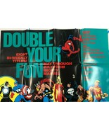 "AVENGERS THOR CAP SPIDER-MAN (1990) Marvel Comics 22"" x 34"" promotional ... - £11.98 GBP"