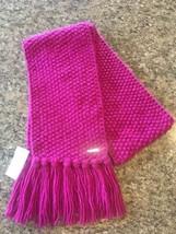 NWT MICHAEL KORS Womens Fuschia/pink Knit Scarf Mrsp $68 - $34.98