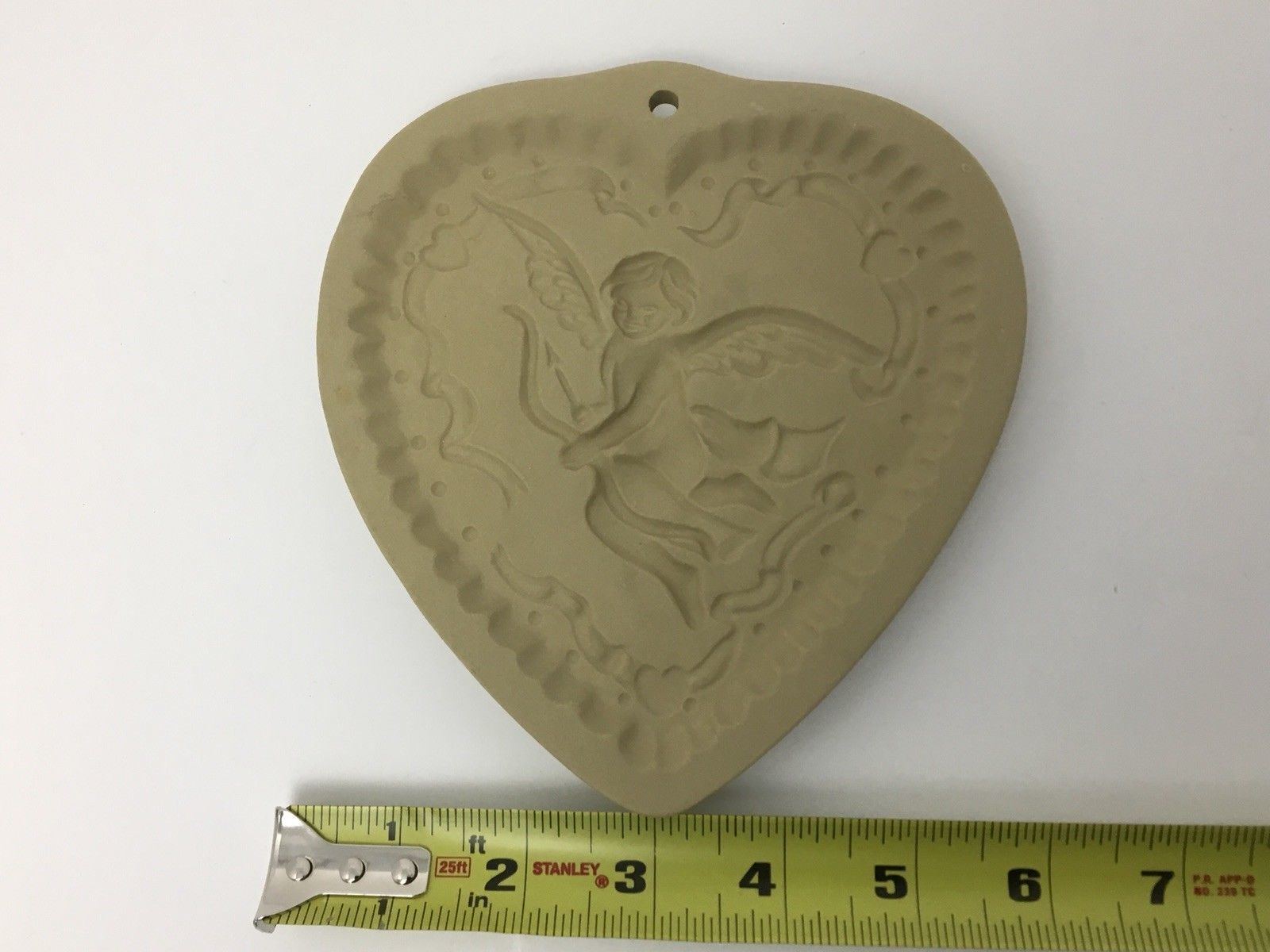 Vtg Cookie Press Cupid Heart Love Craft Brown Bag Food Mold USA Valentines Day image 4