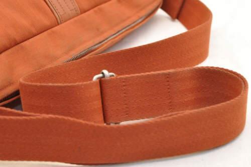 HERMES Acapulco Besace Coton Leather Orange Shoulder Bag Auth 5186 image 7