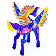 Handmade Alebrijes Oaxacan Wood Carving Painted Folk Art Pegasus Horse Figurine image 4