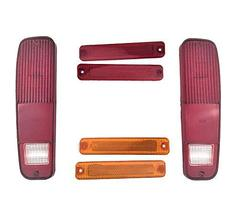 A-Team Performance 6-Piece Tail Light Housings and Side Fender Kit Compatible wi